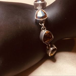 Sterling Silver and citrine Stone bracelet